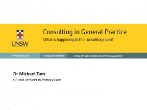 Consulting in General Practice (Lecture)