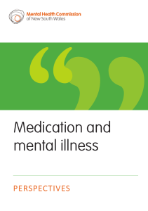 Medication and mental illness perspectives Nov 2015