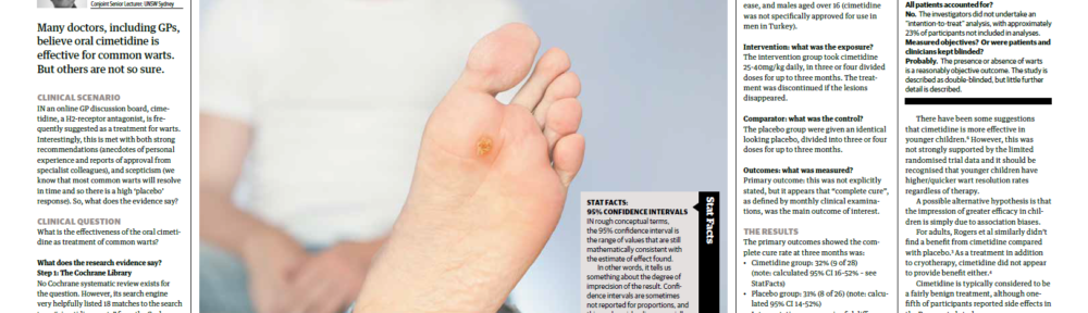 Oral Cimetidine As The Treatment Of Common Warts